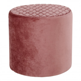 Image of House Nordic Ejby Puf - Rund i rosa velour