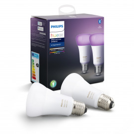 Philips Hue White & Colour Ambience 9W A60 E27 2 Pak