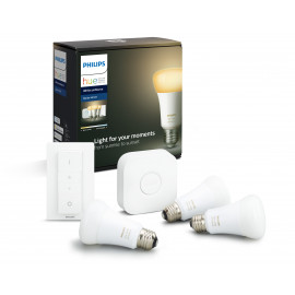Philips Hue White Ambience 8.5W A60 E27 Startsæt 3 Pærer