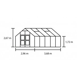 Juliana Premium 10,9 m² antracitgrå m/ 10 mm poly