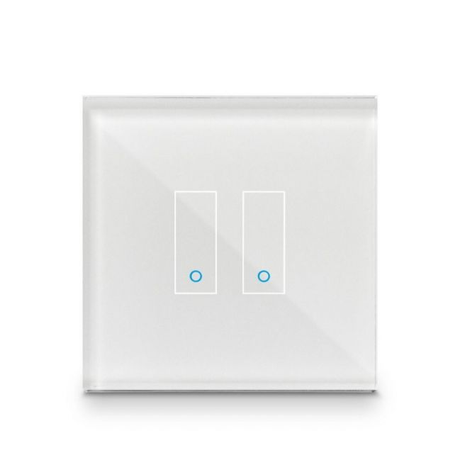 Iotty Smart Switch double button faceplate - Design your own smart switch Colour: White