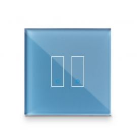 Iotty Smart Switch double button faceplate - Design your own smart switch Colour: Cyan