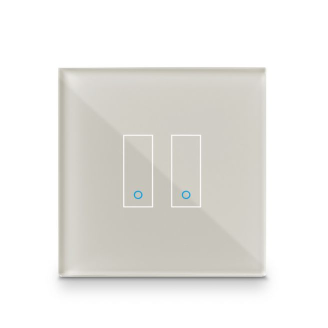 Iotty Smart Switch double button faceplate - Design your own smart switch Colour: Tan