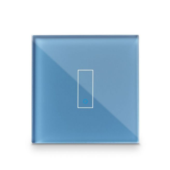 Iotty Smart Switch single button faceplate - Design your own smart switch Colour: Cyan