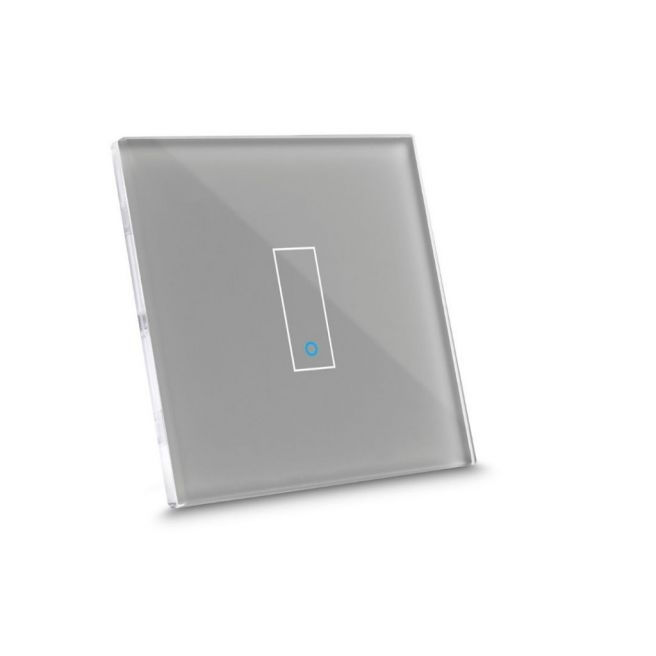 Iotty Smart Switch single button faceplate - Design your own smart switch Colour: Grey