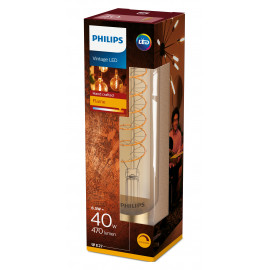 Philips LED Classic Giant Filament 40W Stort Rør E27 Guld dæmpbar 1 stk - 8718696803516