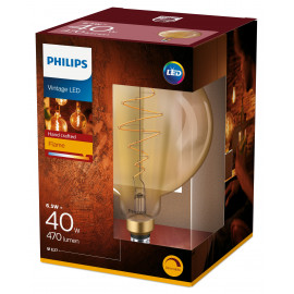 Philips LED Classic Giant Filament 40W Stor Standard E27 Guld dæmpbar 1 stk - 8718696803479