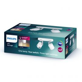 Philips LED SceneSwitch BYRL plate/spiral Hvid 2x4.3W SELV - 8718696170205
