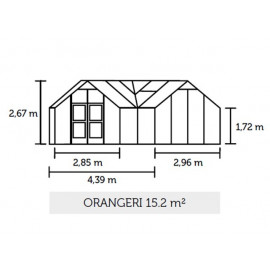 Juliana Orangeri 15,2 m² m/ 3 mm hærdet glas