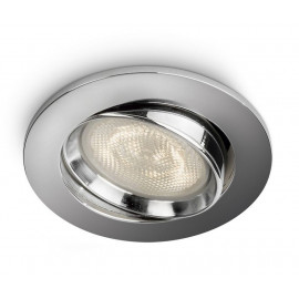 Philips Ellipse Recessed Led Krom 1x4w