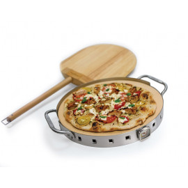 Broil King Pizzasæt Ø 32,5 cm m/rustfri holder og termometer - 69815