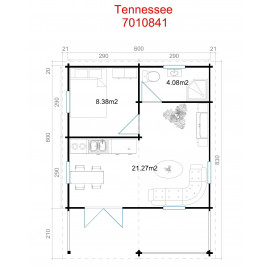 Tennessee 70 Weekend hytte - 34,34 m²
