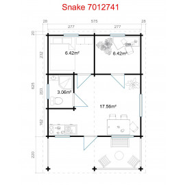 Snake 70 Weekend hytte - 33,9 m²