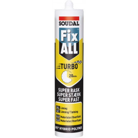 Fix All Turbo Montagelim 290ml Soudal Hvid
