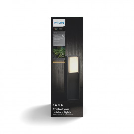 Philips Hue Turaco bedlampe anthracite 1x9.5W 230V