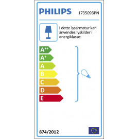 Philips myGarden Moonshine væglampe, Antracit 2x14W