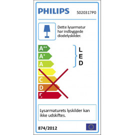 Philips Shellbark LED-indbygningsspot, Mat krom 3x4,5W