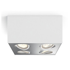 Philips MyLiving Box Spot LED 4 stk, Hvid 4x4,5W